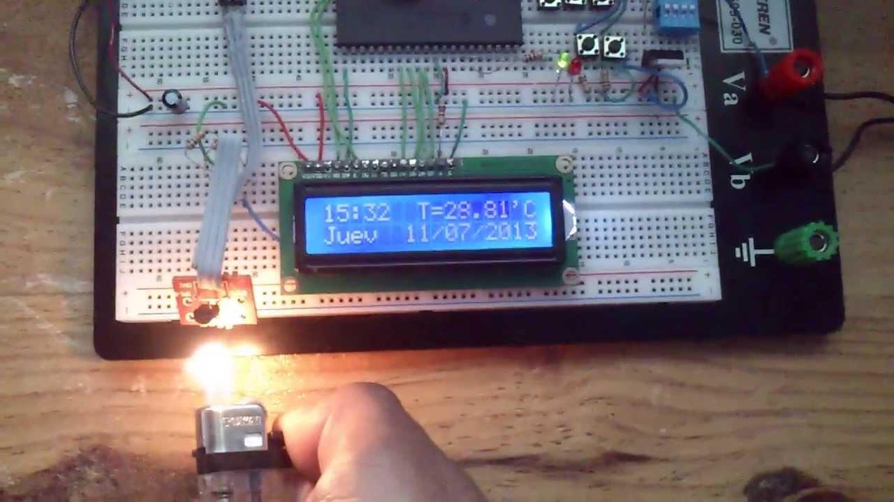 Reloj Termometro Con Pic 16f877a Y Lcd 16x2