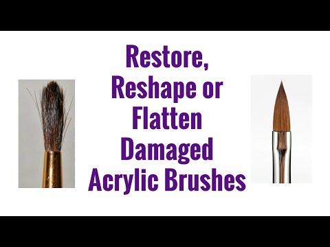 How To Restore, Reshape or Flatten Damaged Acrylic Brushes