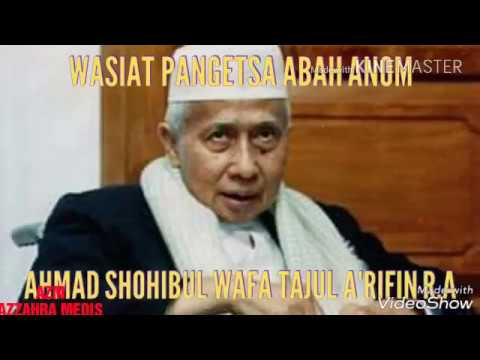 Wasiat penting Abah Anom
