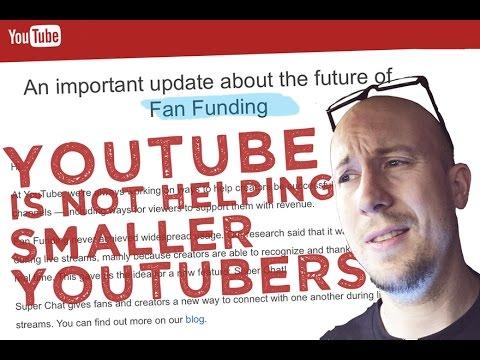 YouTube has shut down Fan Funding