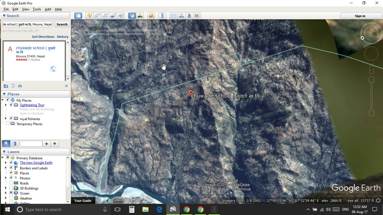 How To Search My Location On Google Earth   YouTube