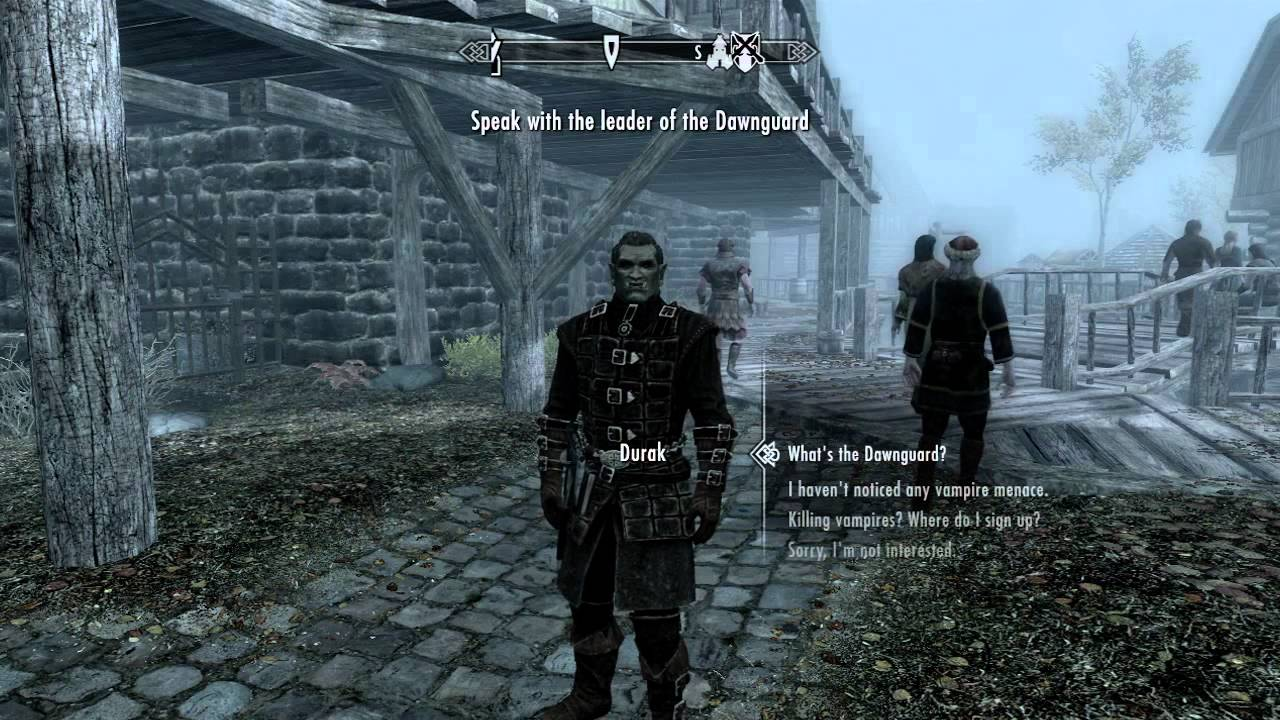Skyrim dawnguard how to join the dawnguard spoilers youtube voltagebd Choice Image