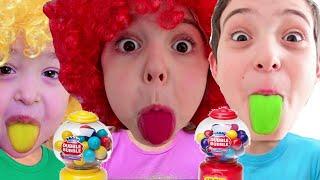 Nastya Learn Colors With Candy Nursery Rhymes & Kids Songs 영어로 배우는 색깔놀이 Настя и правила поведения