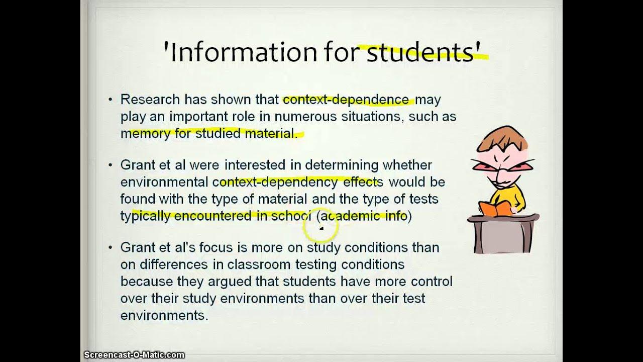 Grant Et Al 1998 Ocr Psychology Core Study Part 1 Of 2 See Notes Below For Amendment