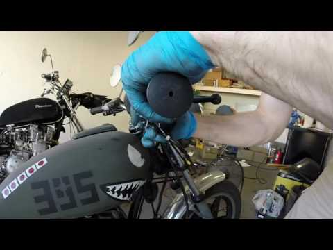 How to change the Throttle Cables (both push and pull) in a 1980 Honda cm400t