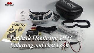 Fatshark Fat Shark Dominator HD3 HD V3 4:3 FPV Goggles Video Glasses Unboxing and first look