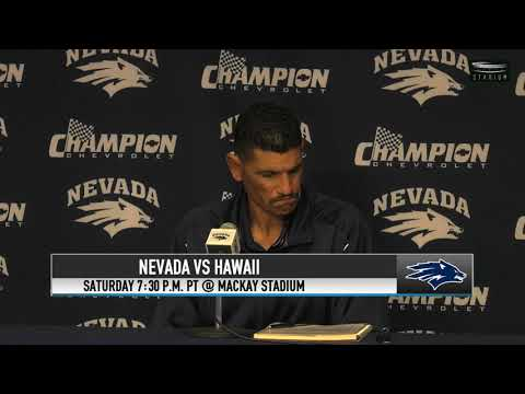 Nevada Football VS Hawaii Press Conference