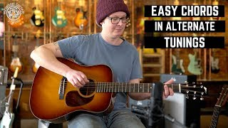 easy chord shapes in alternate tunings | midwood guitar studio