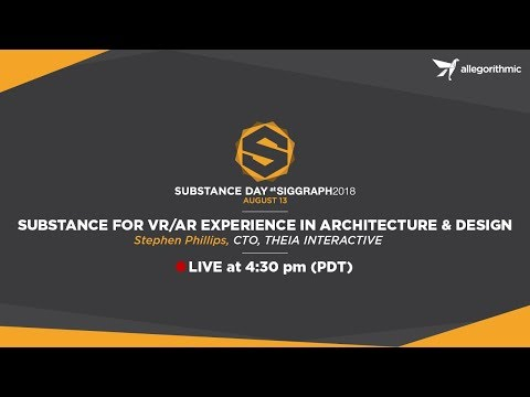 Substance for VR/AR Experience in Architecture & Design