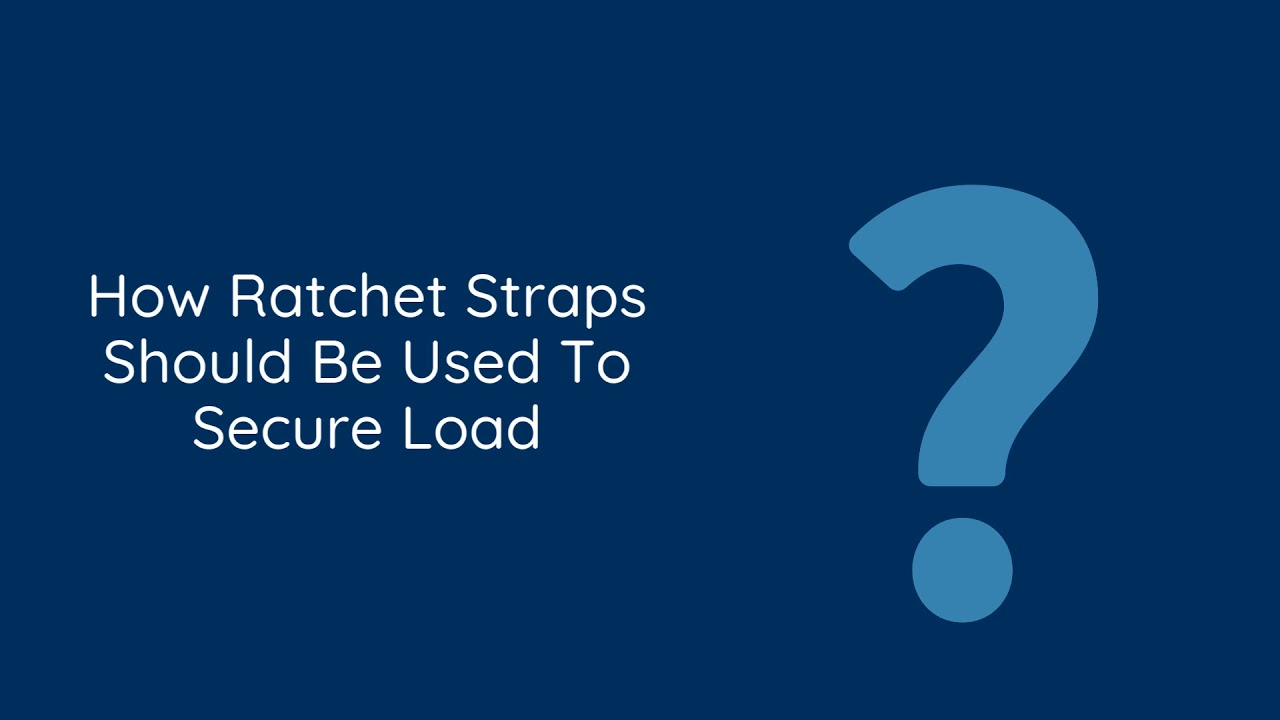 How to Use Ratchet Straps to Secure Load | Toronto Trailers Inc.