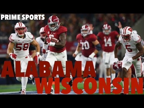 #3 Alabama vs #20 Wisconsin 2015 Highlights (Prime Sports)