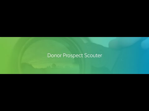 Donor Prospect Scouter Sneak Peek