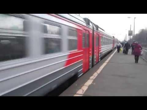 Электропоезд ЭД4М-0169 пл Родники 14 03 2014