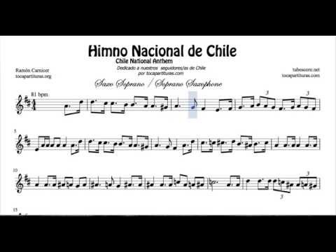 Chile National Anthem Sheet Music for Soprano Sax