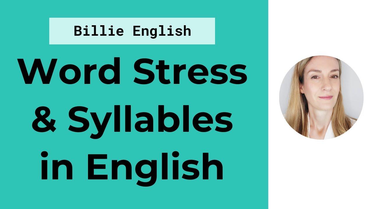 Word stress in english language youtube.