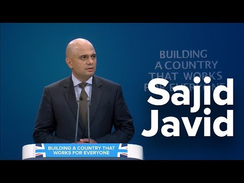 Sajid Javid: Speech to Conservative Party Conference 2017