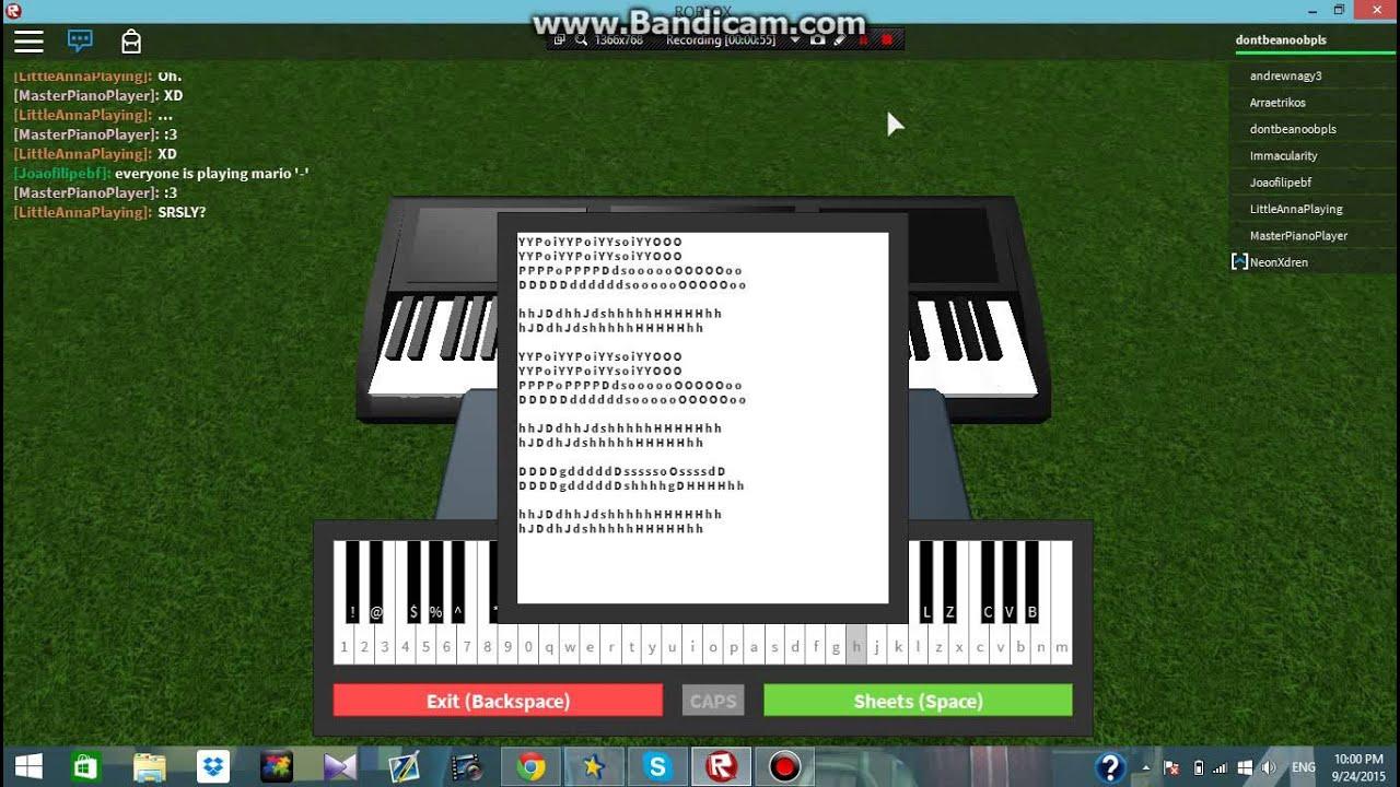 roblox piano music sheet demons