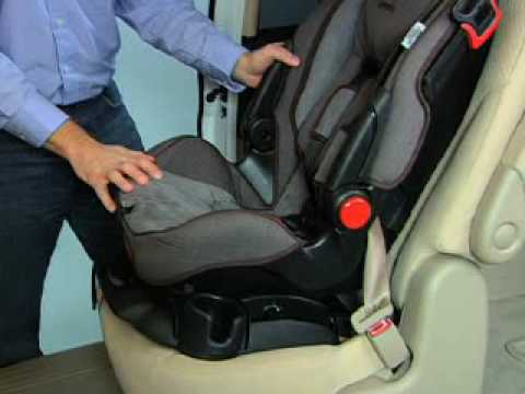 install Safety 1st car seat with seat belt - YouTube