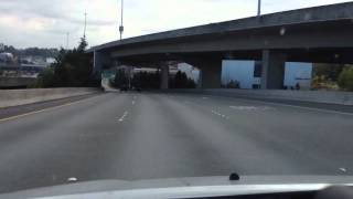 Driving in downtown tacoma washington in HD / 3D