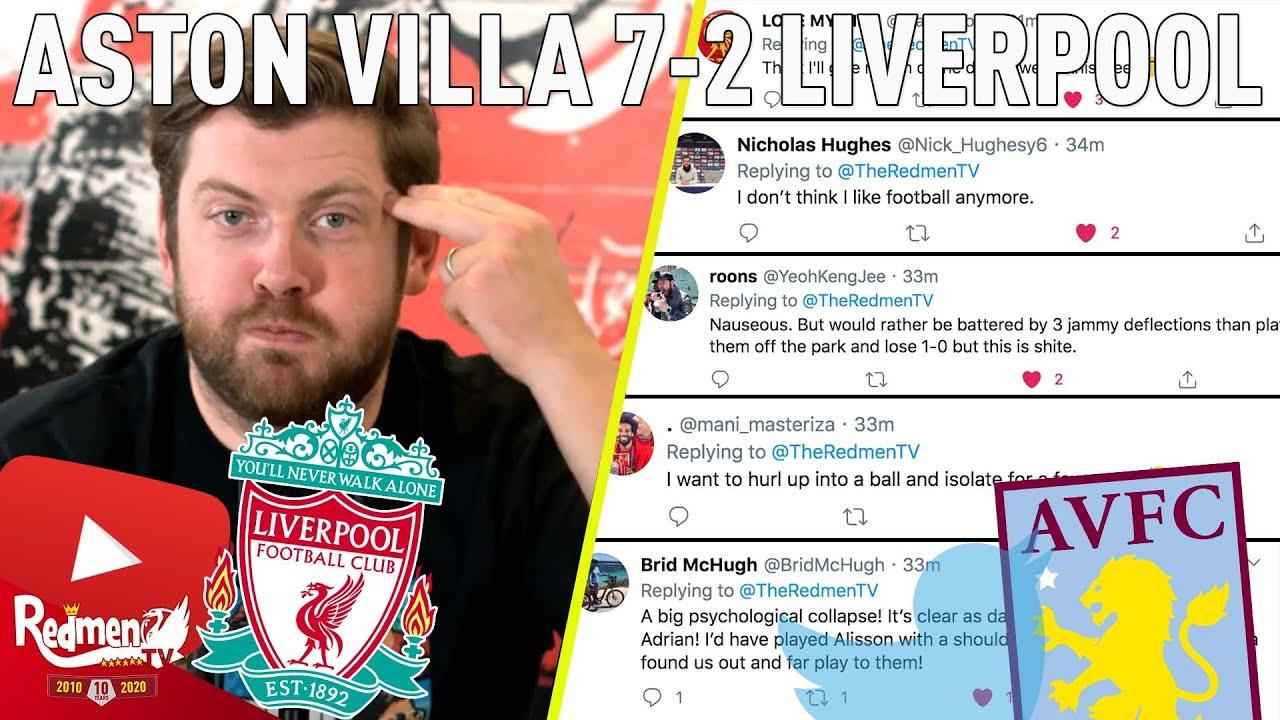 Aston Villa 7 2 Liverpool All Post Match Content The Redmen Tv
