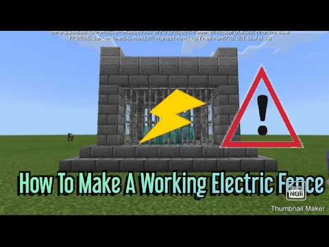how-to-make-a-working-electric-fence-in-minecraft-pocket-edition-(no-mods!)