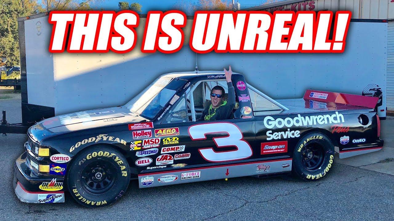 I BOUGHT A LEGIT FREAKING NASCAR TRUCK!!! - YouTube