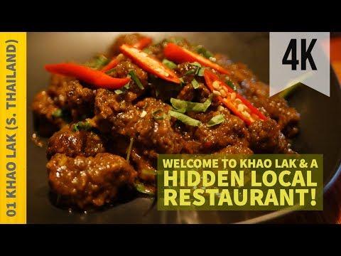 Welcome to Khao Lak and a Hidden Local Restaurant (ครัวนาวี)   Vlog 1   Thailand   4K