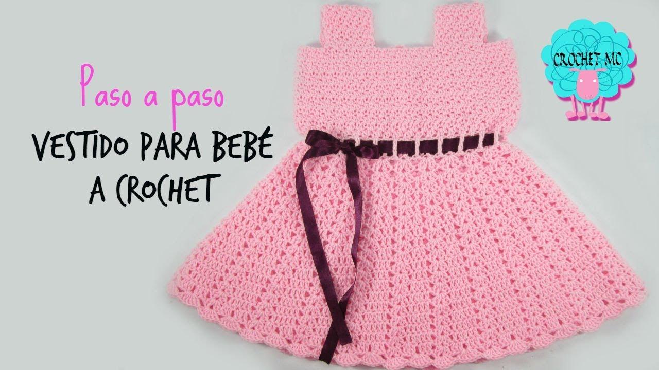 Vestido para bebé a crochet  paso a paso - YouTube 3987c4907952