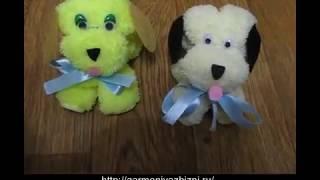 Как сделать собаку за пять минут из салфетки (из микрофибры)