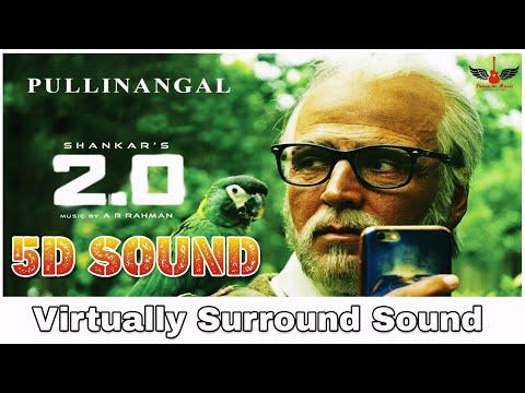 2.0 - Pullinangal   8D Audio Song   Rajinikanth, Akshay Kumar   AR Rahman 8D Songs