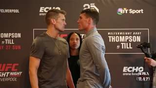 UFC Fight Night Liverpool Media Day Face off highlights