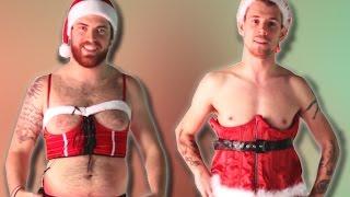 Men Try Sexy Santa Lingerie