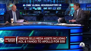 Jim Cramer on Verizon's deal to sell AOL, Yahoo to Apollo for $5 billion