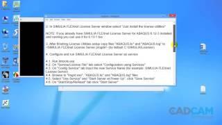 Repeat youtube video Installation Abaqus 6.13  Abaqus windows 8/7