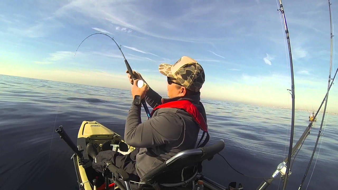 Newport beach offshore kayak fishing youtube for Offshore kayak fishing