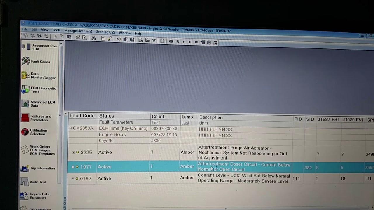 Cummins 3225 fault code