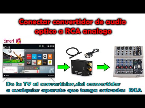 conectar convertidor de audio optico a rca lg smart tv