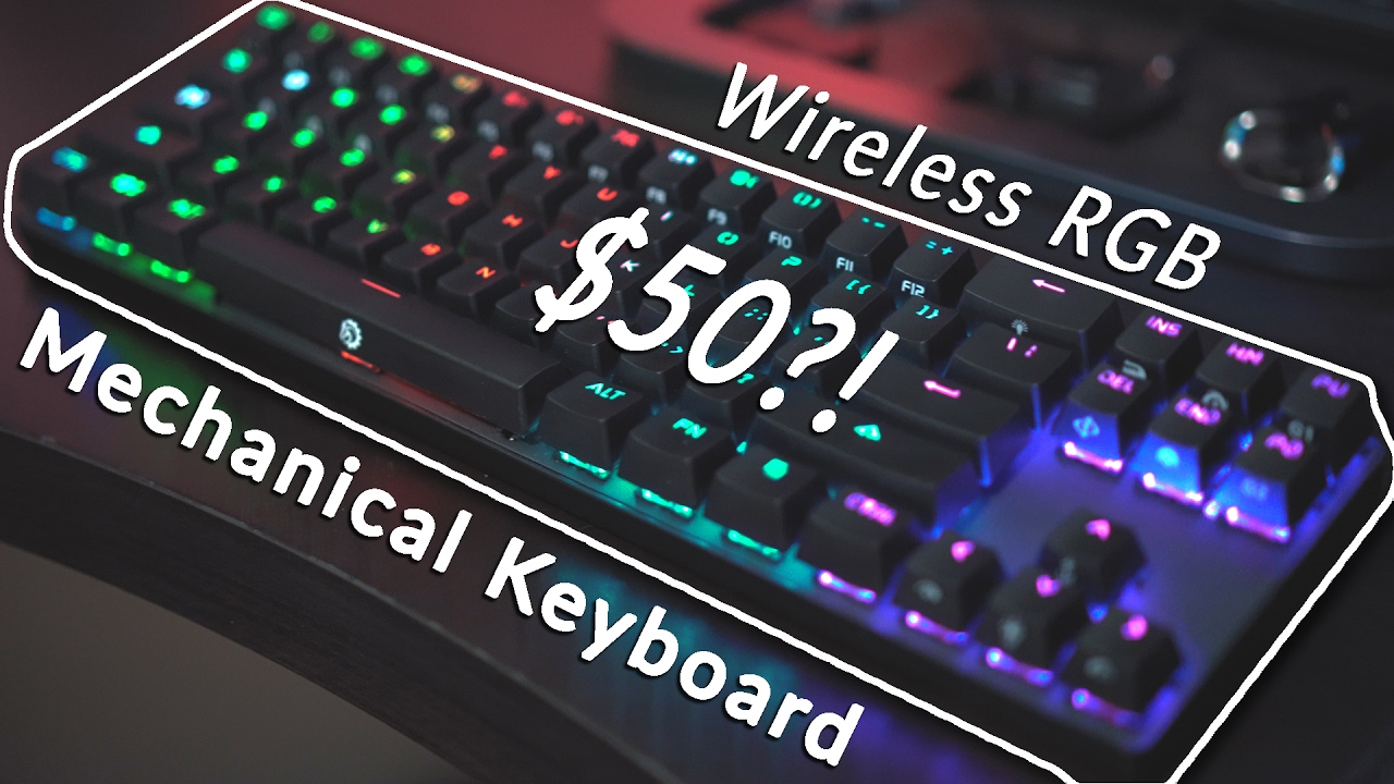 31f1d56897e Wireless Mechanical RGB Keyboard For $50? - Drevo Calibur Review ...