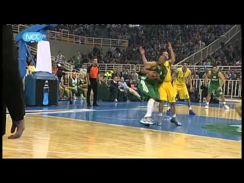 """Pick & Roll"" by Jasikevicius and Batiste (Panathinaikos vs. Maccabi # Euroleague # 20/03/12)"