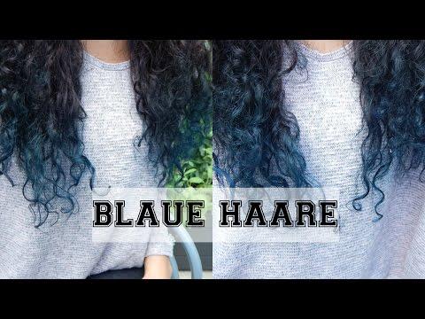 Locken blondieren und Spitzen blau tönen! | Directions midnight blue