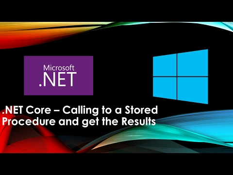 .NET Core Calling to a Stored Procedure and get the Results