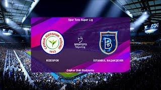 Rizespor vs Istanbul Basaksehir   2019-20 Süper Lig   PES 2020