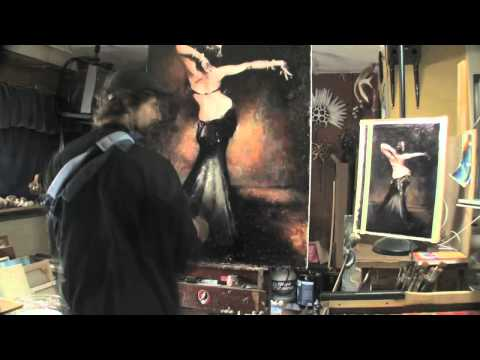 Speed Painting Time Lapse of the Belly Dancer, Deb Rubin, from photographer, Scott Belding