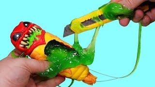 Cutting open Treasure Slime Aliens...