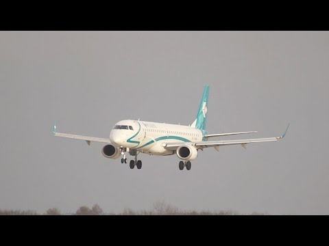 Air Dolomiti Embraer 195LR I-ADJR arrival at Munich Airport Landung Flughafen München