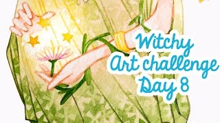 Witchy Art Challenge Day 8 WICCAN WITCH