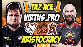 TAZ ACE!!! SNAX CLUTCH 1vs2, VIRTUS.PRO VS ARISTOCRACY - CSGO BEST MOMENTS