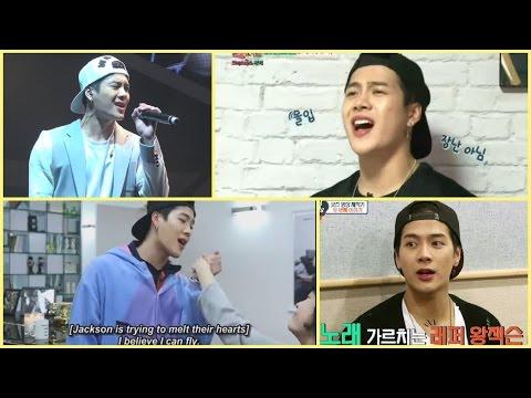 Jackson Wang GOT7 sings I Believe I Can Fly & Beautiful (Jesse McCartney)