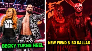 Becky Lynch Returns And Turns Heel Terrifying New Fiend Bray Wyatt And Bo Dallas Return WWE News