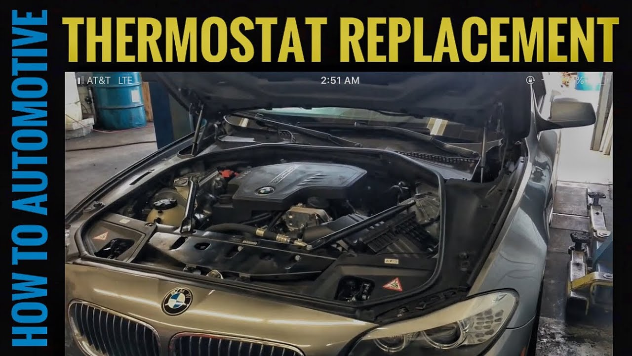 How To Replace The Thermostat On A 2012 Bmw 528i Youtube
